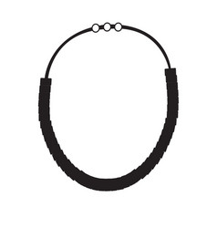 necklace silhouette vector image