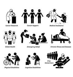 npo nonprofit organization foundation welfare vector image