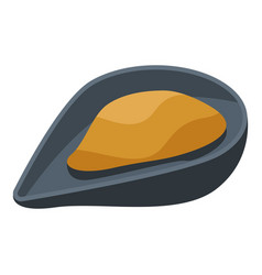 Open mussel icon isometric style vector