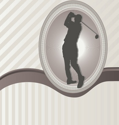 ornament frame and golf vector image
