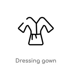 outline dressing gown icon isolated black simple vector image