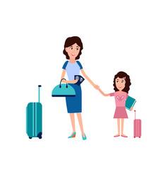 passport control in airport vector image