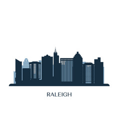 Raleigh skyline monochrome silhouette vector