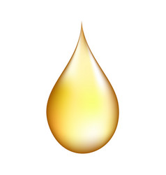 Realistic gold drop vector