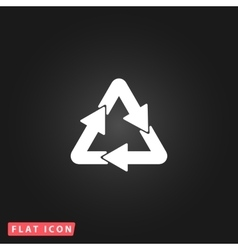 Recycle sign isolated on background vector