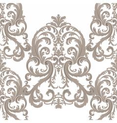 Royal floral damask baroque ornament pattern vector