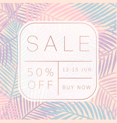 sale banner tropical style vector image