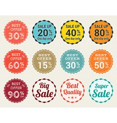 Sales promotion set in retro vector image