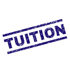 Scratched textured tuition stamp seal vector