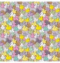 seamless pattern with colorful baducks vector image