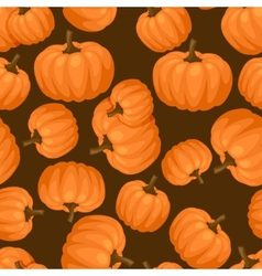 Seamless pattern with fresh ripe pumpkins vector