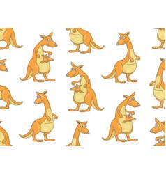 seamless pattern with kangaroos vector image