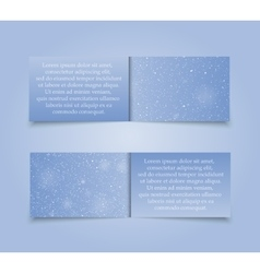 Set Horizontal Blue Banners New Year Christmas vector image