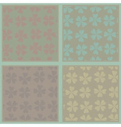 Set of seamless abstract floral patterns vector image