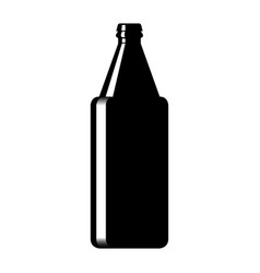 silhouette of a glass beer bottle vector image