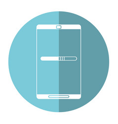 Smartphone mobile technology charge image vector