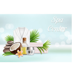 spa salon services poster design template vector image
