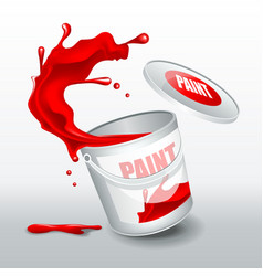 splash red paint realistic 3d image vector image