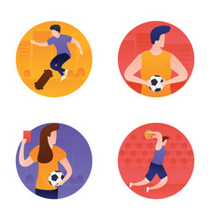 Sports and olympic flat icons pack vector