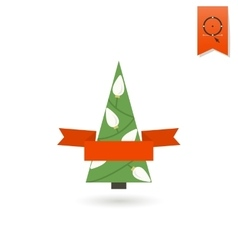 Stylized Christmas Tree with Ribbon vector image