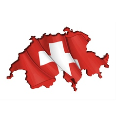Swiss Map Flag vector