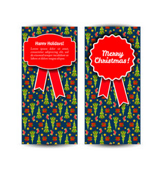 two vertical christmas banner set vector image