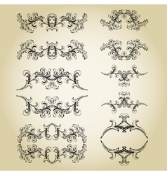 Vintage floral frame Element for design vector image