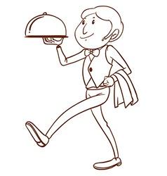 Waiter vector image