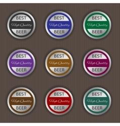 Best beer labels vector image