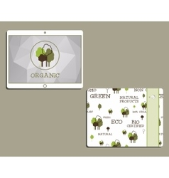 Corporate identity template design for natural and vector image