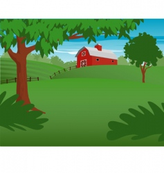 country scene vector image vector image