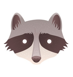 Cute cartoon raccoon vector image