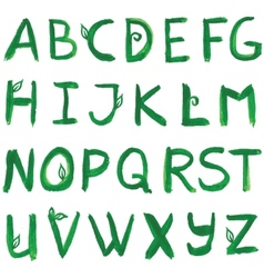 Hand drawn ink alphabet format vector image
