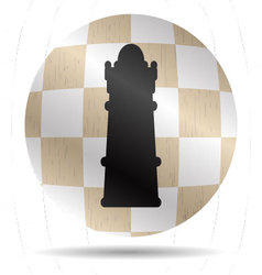 Icon chess queen vector image vector image