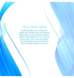 Abstract wavy background in blue vector