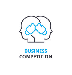 business competition concept outline icon vector image