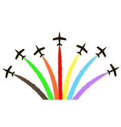 colorful aircraft vector image vector image