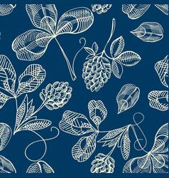 festive st patricks day seamless pattern vector image