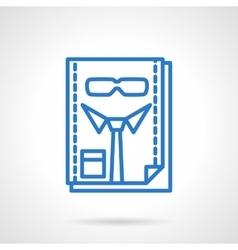 Hr management blue line icon vector