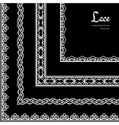 Lace corners set vector image vector image