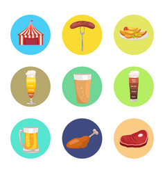 nine images of octoberfest vector image