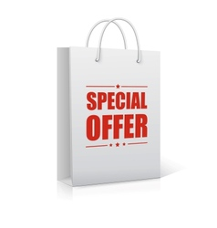 Shopping Bag on white with text Special Offer vector image