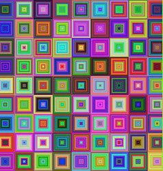 Colorful square tile mosaic background design vector