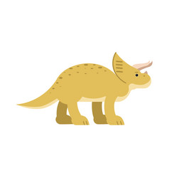 cute cartoon triceratops dinosaur prehistoric and vector image