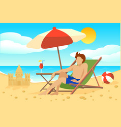 flat summer vacation concept vector image