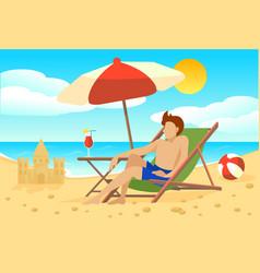 Flat summer vacation concept vector
