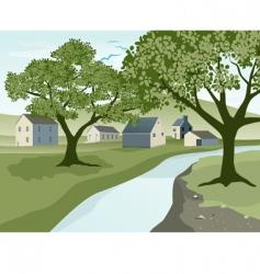 river landscape vector image vector image