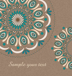 Vintage background with oriental ornaments vector image
