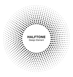Abstract Circle Frame Halftone Dots Design Element vector image