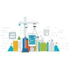 Application development concept for e-business vector